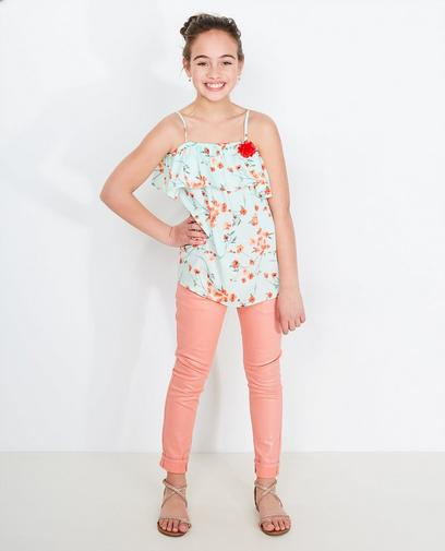 Jeans rose corail